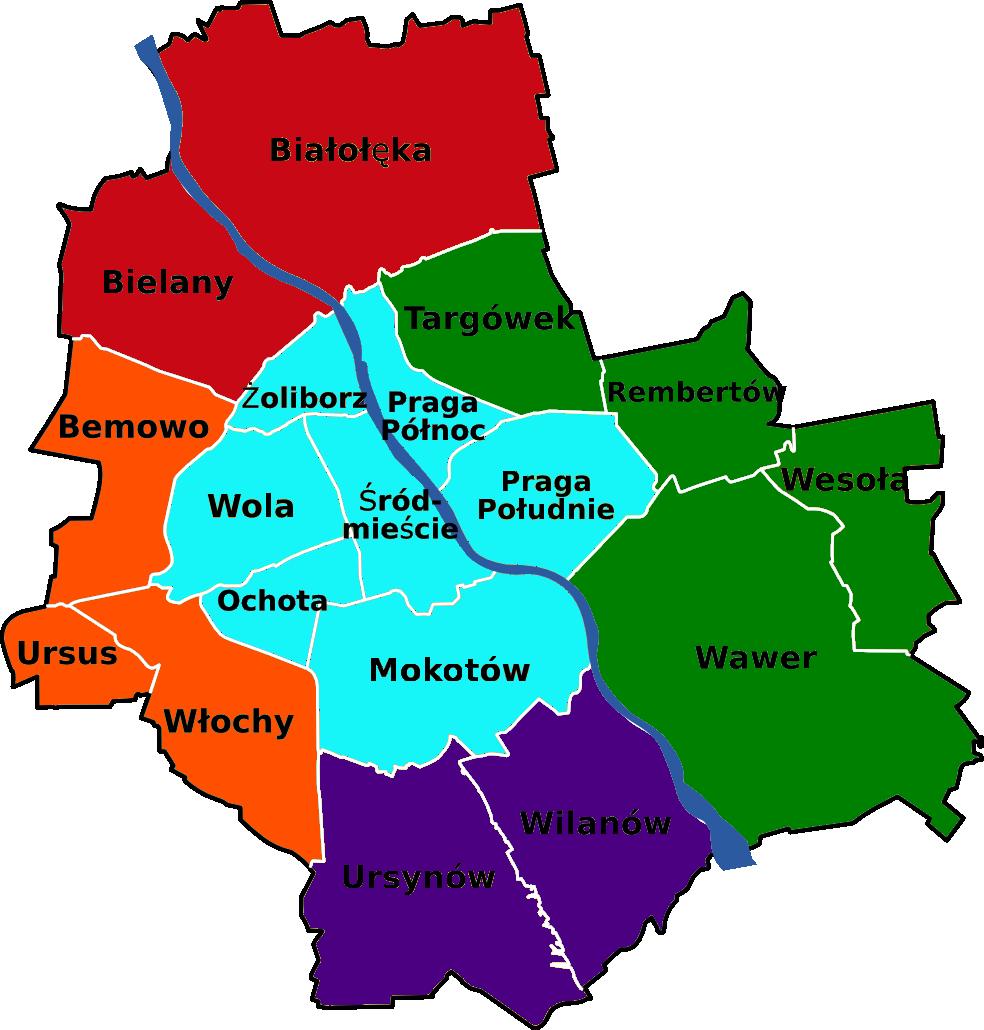 Hydraulik Warszawa dzielnice